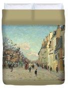 Paris Quai De Bercy Snow Effect Duvet Cover