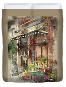 Paris Restaurant 5 - By Diana Van Duvet Cover