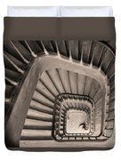 Paris Staircase - Sepia Duvet Cover