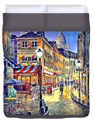 Paris Street Abstract 2 Duvet Cover