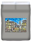 Paris Street Abstract 3 Duvet Cover