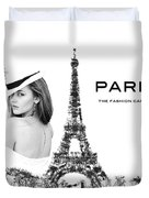 Paris The Fashion Capital Duvet Cover by ISAW Company