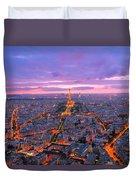 Parisian Nights Paris Duvet Cover