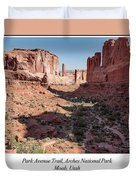 Park Avenue Trail, Arches National Park, Moab, Utah Duvet Cover