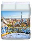 Park Guell Barcelona Duvet Cover