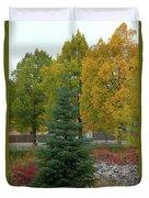 Park Trees Duvet Cover