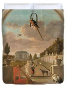 Park With Country House, Jan Weenix, 1670 - 1719 Duvet Cover