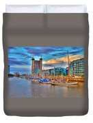 Parking Boat - Puerto Madero Duvet Cover
