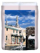Parkville In Winter Duvet Cover