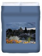 Parliament Building In Victoria At Dusk Duvet Cover