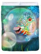 Parrot Fish - Through A Bubble Duvet Cover