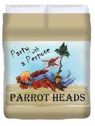 Parrot Heads Duvet Cover