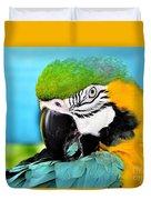Parrot Time 3 Duvet Cover