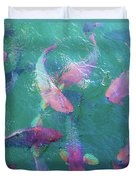 Parrotfish Of The Keys Duvet Cover