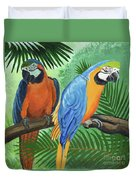 Parrots In Light And Shade Duvet Cover