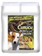 Parson Russell Terrier Art Canvas Print - Curucu  Movie Poster Duvet Cover