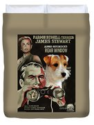Parson Russell Terrier Art Canvas Print - Rear Window Movie Poster Duvet Cover
