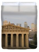 Parthenon With Nashville Skyline  Duvet Cover