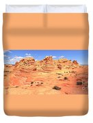 Partly Cloudy Over Coyote South Duvet Cover