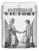 Partners In Victory Duvet Cover