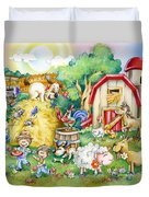 Party At The Farm Duvet Cover