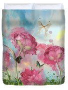 Party In The Posies Duvet Cover