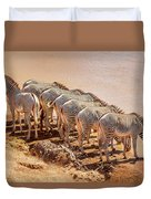Party Of Eight  6973 Duvet Cover