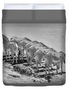 Party Of Eight  6973bw Duvet Cover