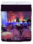 Party Setting With Colorful Bokeh Background Duvet Cover
