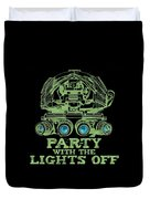 Party With The Lights Off Duvet Cover