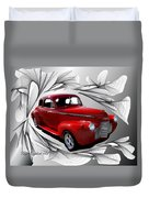 Party Time Red Duvet Cover