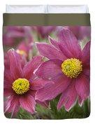 Pasque Flower Duvet Cover