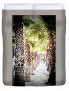 Pass Of Palms Duvet Cover