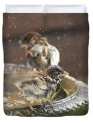 Pass The Towel Please: A House Sparrow Duvet Cover