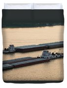 Passing Barges Duvet Cover