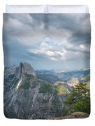 Passing Clouds Over Half Dome Duvet Cover