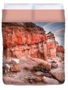 Passing Time At Red Rock Duvet Cover