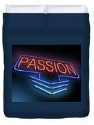 Passion Neon Concept. Duvet Cover