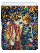 Passion Of The Cats  Duvet Cover