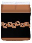 Passoword Duvet Cover