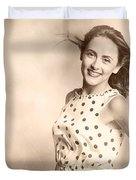 Past Hairstyles Pinup Duvet Cover