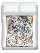 Past Life Trauma Inverted Duvet Cover by Reed Novotny