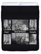 Past New Orleans People Duvet Cover