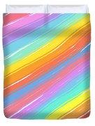 Pastel Diagonals Duvet Cover