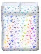 Pastel Hearts Duvet Cover