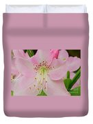 Pastel Pink  Azalea Duvet Cover
