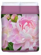Pastel Pink Peonies Duvet Cover