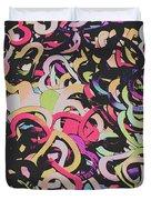 Pastel Pop Heart Duvet Cover