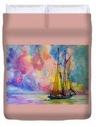 Pastel Sail Duvet Cover