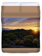Pastel Sonoran Skies  Duvet Cover
